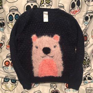 Girls bear sweater